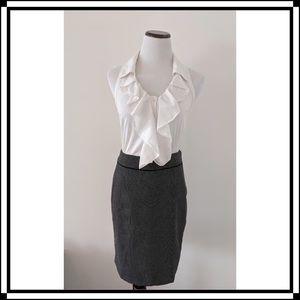 NWT!! WHBM Polka Dot Pencil Skirt with Ruffle